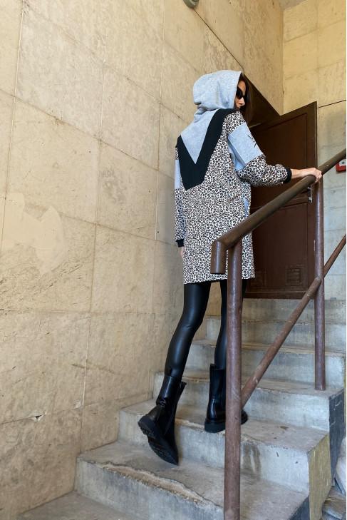 Šaty Oskar sivé